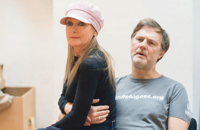 Lesley Sharp and David Morrissey in rehearsals for The End of History at London's Royal Court. Photo: Johan Persson