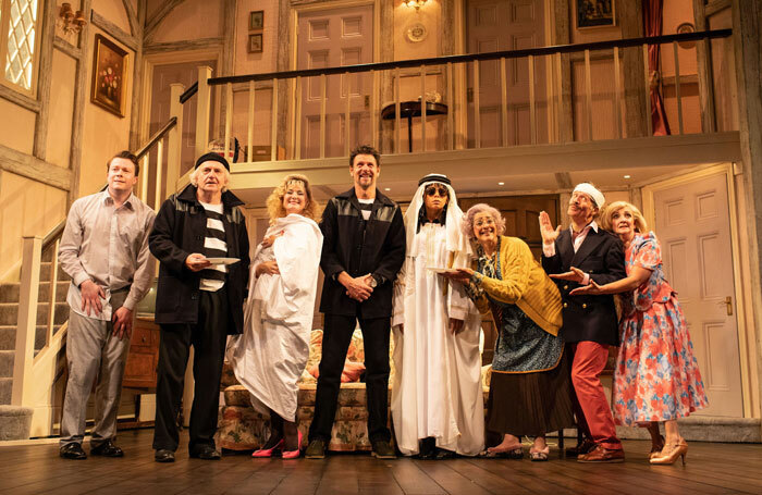 The company of Noises Off at Lyric Hammersmith. Photo: Helen Maybanks