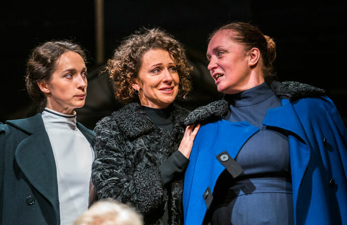 Ekaterina Tarasova, Ksenia Rappoport and Irina Tychinina in Maly Theatre's Three Sisters at the Vaudeville Theatre, London. Photo: Tristram Kenton