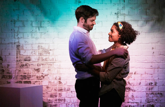 Gabriel Bisset-Smith and Rebekah Murrell in Whitewash at Soho Theatre, London. Photo: The Other Richard