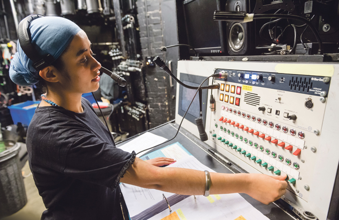 Stage manager at work. Photo: Alex Brenner