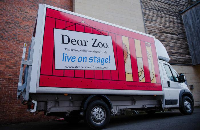 The Dear Zoo van prior to being stolen