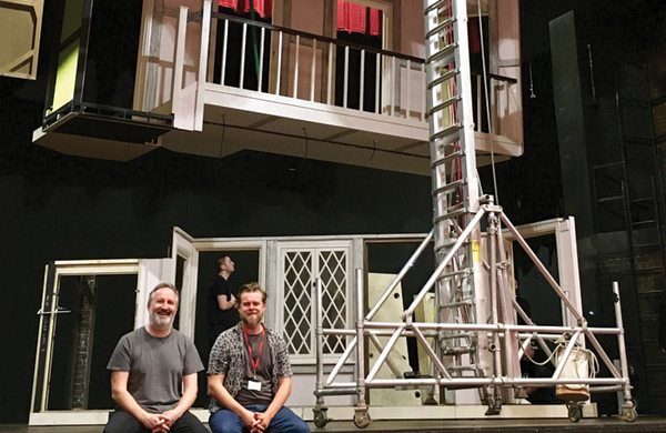 Meet the team behind the 'Rubik's cube' set for classic farce Noises Off