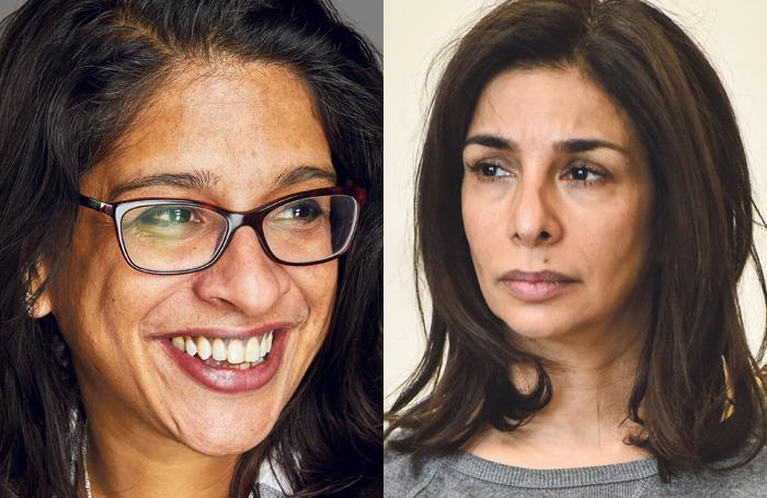 Indhu Rubasingham and Shobna Gulati. Photos: Mark Douet/Robert Day