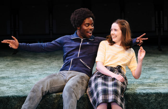 Jonathan Ajayi and Tilly Steele in Strange Fruit at the Bush Theatre. Photo: Helen Murray