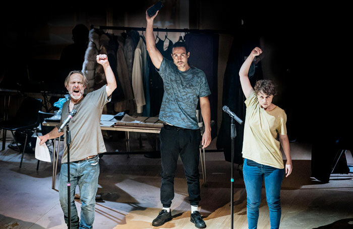 David Crellin, Reuben Johnson and Katie West in There Is a Light That Never Goes Out: Scenes from the Luddite Rebellion. Photo: Manuel Harlan
