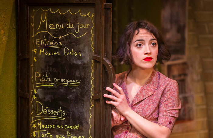Audrey Brisson in Amelie at Watermill Theatre, Newbury. Photo: Pamela Raith