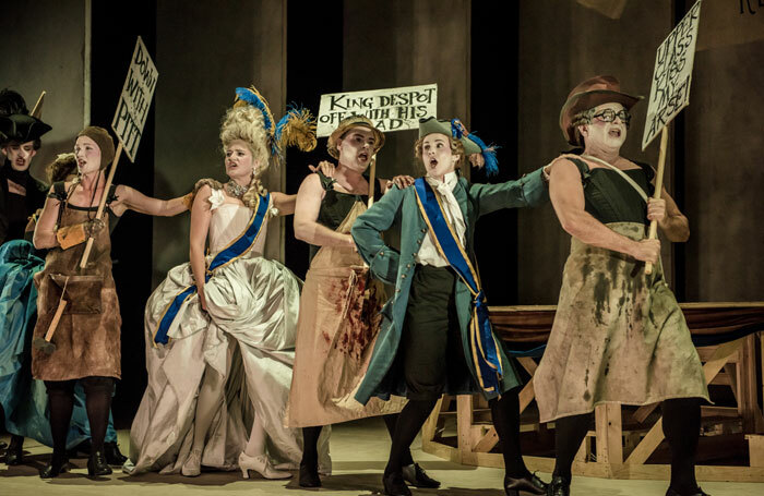 The cast of Georgiana at Opera House, Buxton. Photo: Genevieve Girling