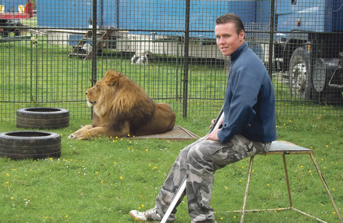 Thomas Chipperfield, who works with animals for touring show AnEvening WithLions andTigers.
