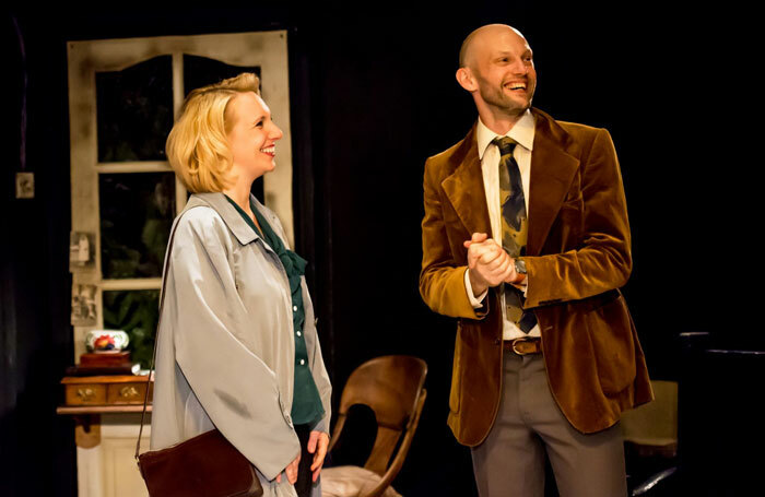 Gillian Dean and Gareth Kennerley in Crystal Clear at Old Red Lion, London. Photo: Lidia Crisafull