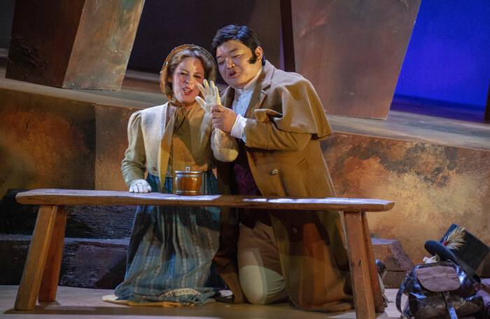 Letitia Viltelaru and David Junghoon Kim in Lucia di Lammermoor at Dorset Festival Opera. Photo: Fritz Curzon