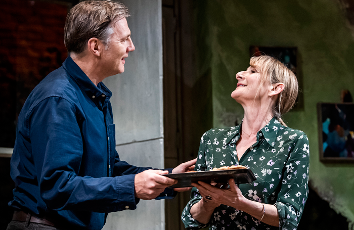 David Morrissey and Lesley Sharp in The End of History.... at the Royal Court, London. Photo: Tristram Kenton