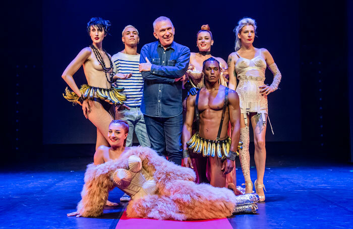 Jean Paul Gaultier with the cast from Fashion Freak Show. Photo: Tristram Kenton