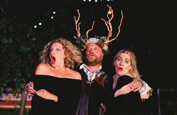 Sarah Gobran, Peter Gordon and Emma Fenney in The Merry Wives of Windsor. Photo: Matt Pereira