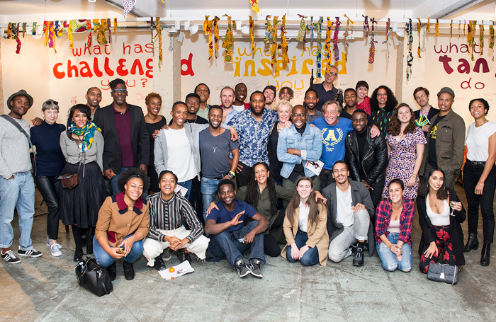 Performers and creatives at Tangle Cafe in 2018