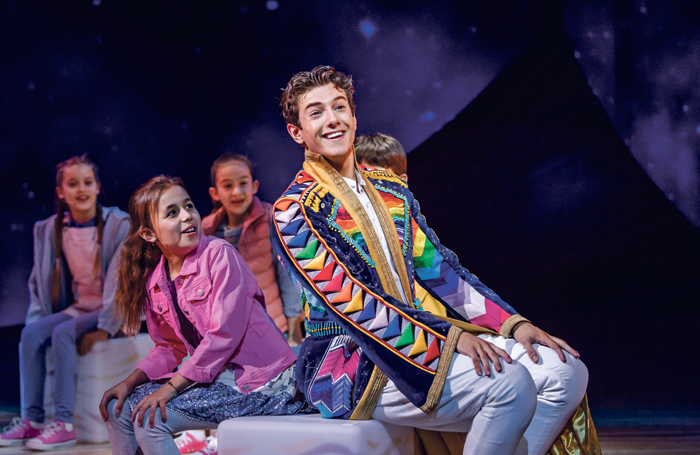 Jac Yarrow and the  company of Joseph and the Amazing Technicolor Dreamcoat. Photo: Tristram Kenton