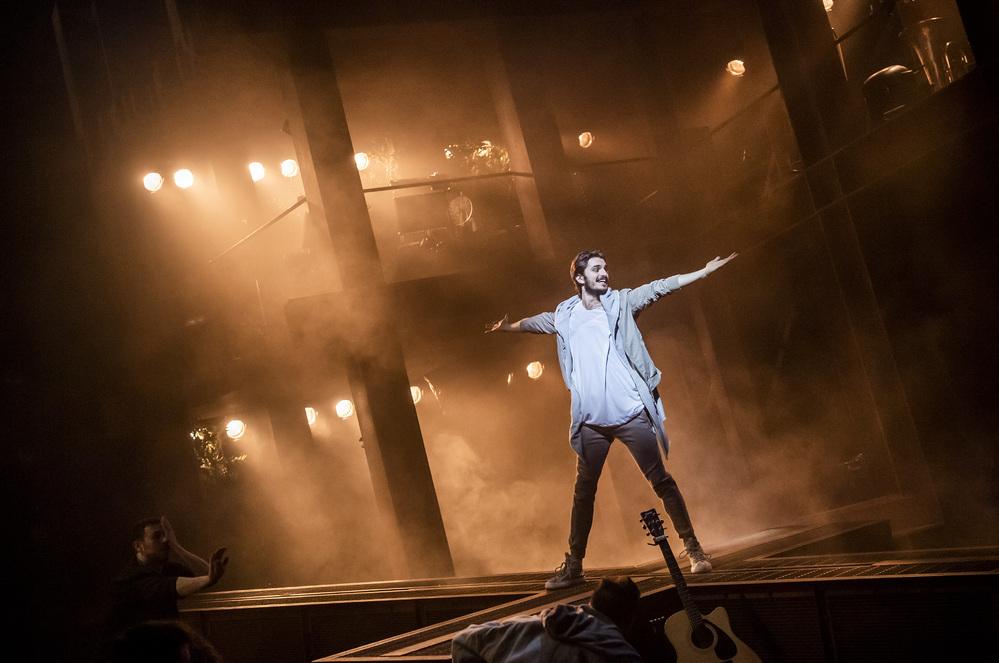 Robert Tripolino  in Jesus Christ Superstar at Barbican. Photo: Tristram Kenton