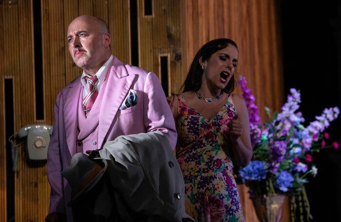 Richard Burkhard and Clare Presland  in Il Segreto di Susanna at Opera Holland Park. Photo: Ali Wright