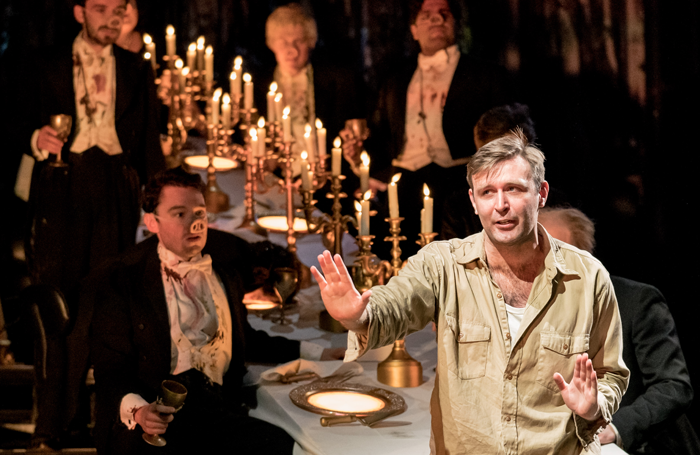 James McArdle in Peter Gynt at the National Theatre, London. Photo: Manuel Harlan