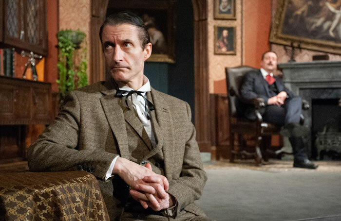 Stephen Chance and Philip Mansfield in Sherlock Holmes and the Invisible Thing at Rudolf Steiner Theatre, London. Photo: Alastair Hilton