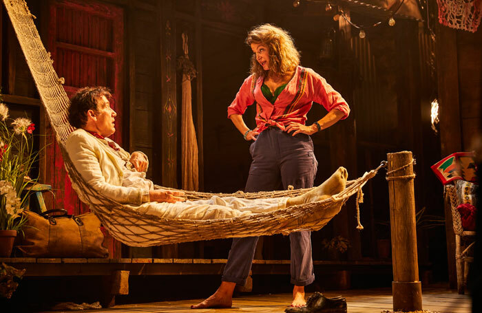 Clive  Owen and Anna Gunn in The Night of the Iguana at Noel Coward Theatre. Photo: Brinkhoff Moegenburg