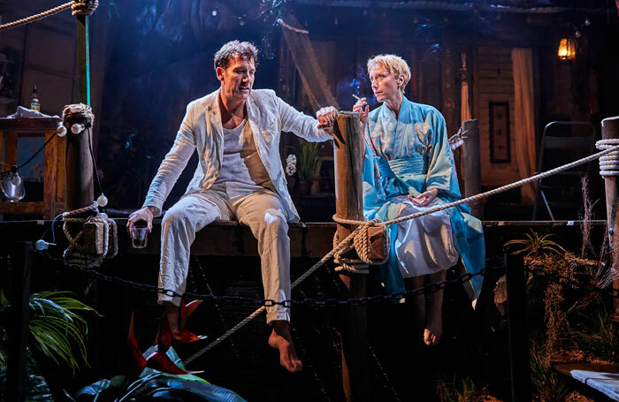 Clive  Owen and Lia Williams in The Night of the Iguana at Noel Coward Theatre. Photo: Brinkhoff Moegenburg