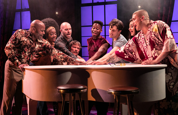The cast of The View UpStairs. Photo: Darren Bell