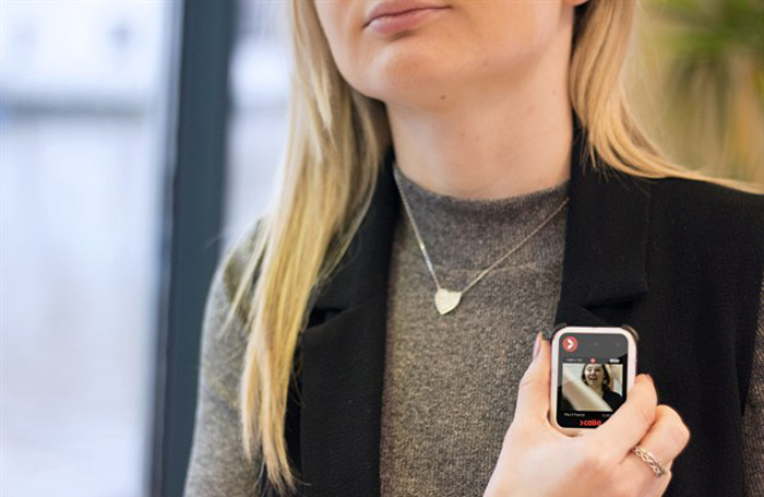 Calla's cameras have a front-facing screen, which shows recorded footage on the device as it happens