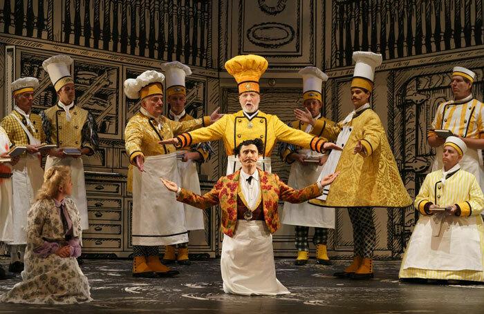 The cast of Die Zauberflote at Glyndebourne, Lewes. © Glyndebourne Productions Ltd. Photo: Bill Cooper