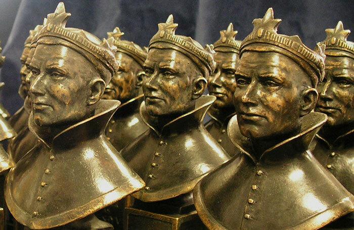 Olivier award statuettes