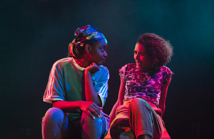 Tia Bannon and Danielle Vitalis in  Seven Methods of Killing Kylie Jenner at Royal Court, London. Photo: Helen Murray