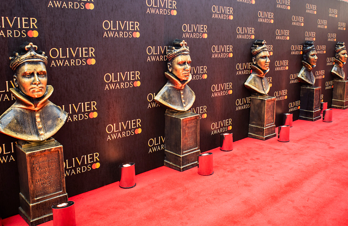 The Olivier Awards red carpet. Photo: Pamela Raith