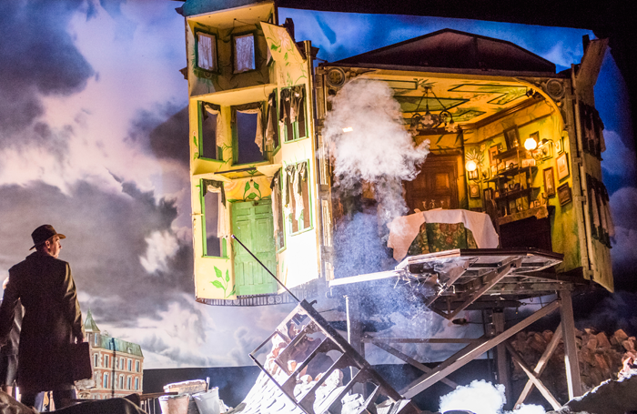 The set of An Inspector Calls. Memories of such iconic sets can pile the pressure on an 'up and coming' designer. Photo: Tristram Kenton