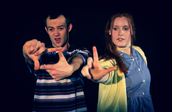 Will Howard and Kimberley Jarvis in Bobby and Amy at Pleasance Courtyard, Edinburgh. Photo: Cam Harle