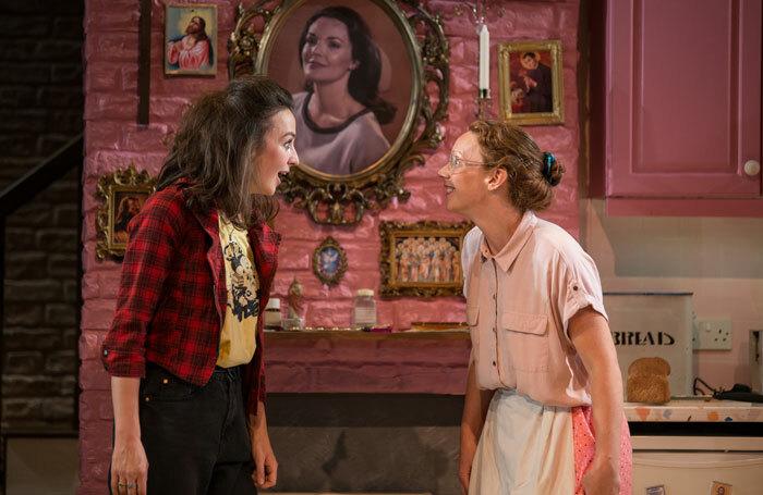 Lisa Dwyer Hogg and Lucianne McEvoy in Crocodile Fever at Traverse Theatre, Edinburgh. Photo: Lara Cappelli