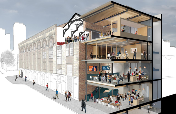 The Old Vic aims to boost its community and education output with a five-storey annexe. Photo: Bennetts Associates