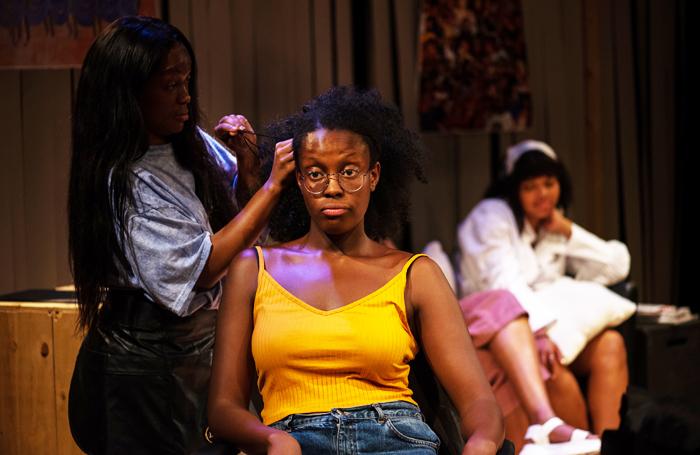 Elise Palmer, Odera Ndujiuba and Amba Rose Mendy in Pyneapple at the Bunker, London. Photo: Korey J Ryan