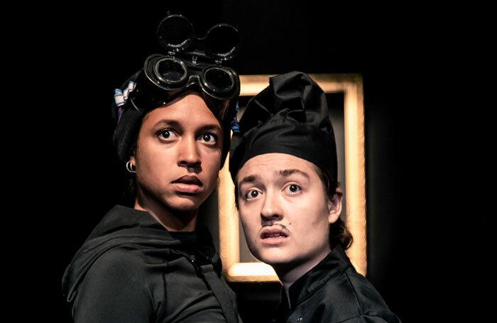Serena Yagoub and Rosa Garland in Art Heist at Underbelly Cowgate, Edinburgh. Photo: Richard Davenport
