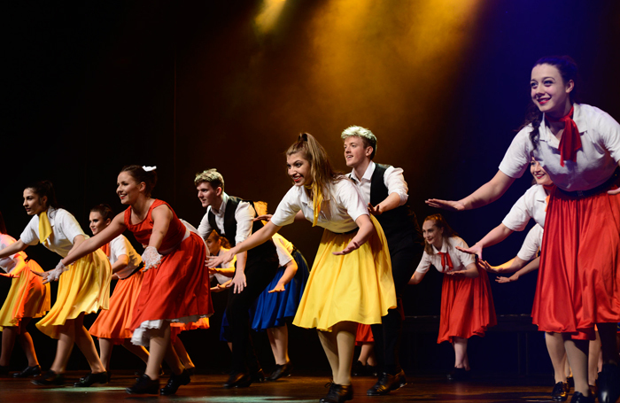 Students performing at Liverpool Theatre School