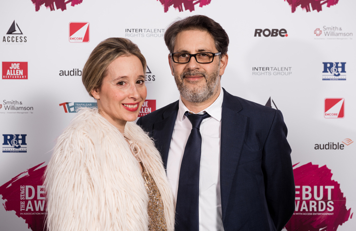 Access Entertainment president Danny Cohen and his wife Noreena Hertz at last year's The Stage Debut Awards. Photo: Alex Brenner