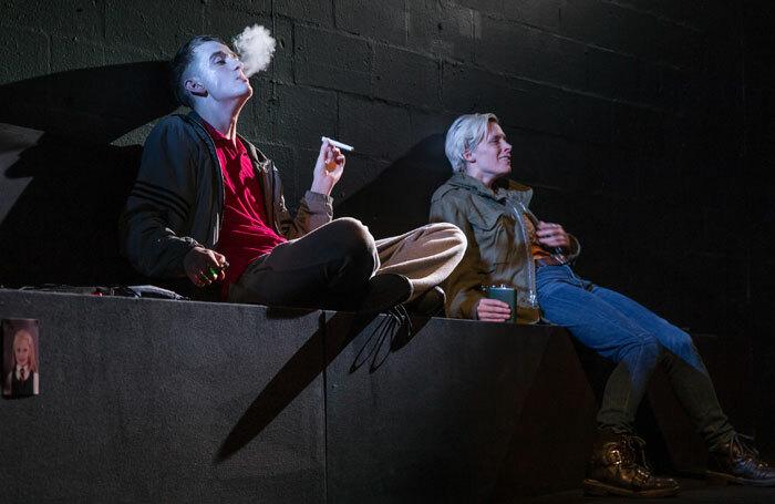 Angus Taylor and Shauna Macdonald in Mouthpiece at the Traverse Theatre, Edinburgh. Photo: Lara Cappelli