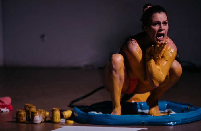 Eva O'Connor in Mustard at Summerhall, Edinburgh. Photo: Jassy Earl
