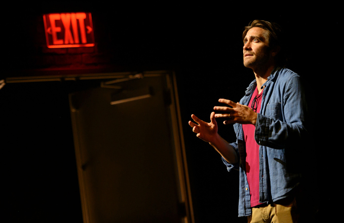 Jake Gyllenhaal in A Life at the Hudson Theatre, New York. Photo: Hubert Smith