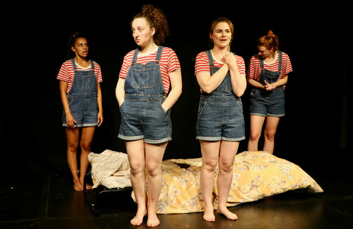 Cast of A Womb of One's Own at Pleasance Dome, Edinburgh. Photo: Greta Mitchell