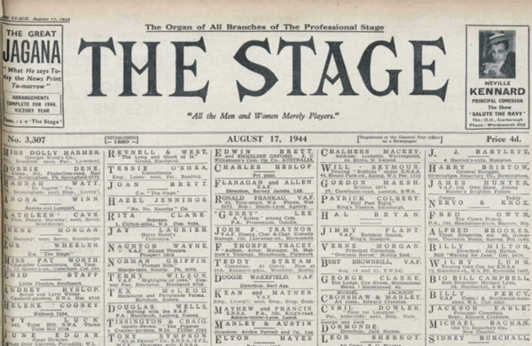 'Escapism from the war? Hardly. London's theatre-land is at the centre of the target' – 75 years ago in The Stage