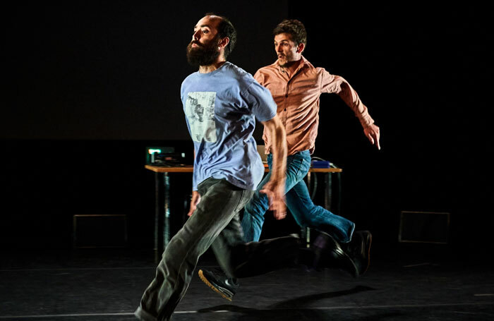 Nasi Voutsas and Bertrand Lesca in The End at Summerhall, Edinburgh. Photo: Alex Brenner