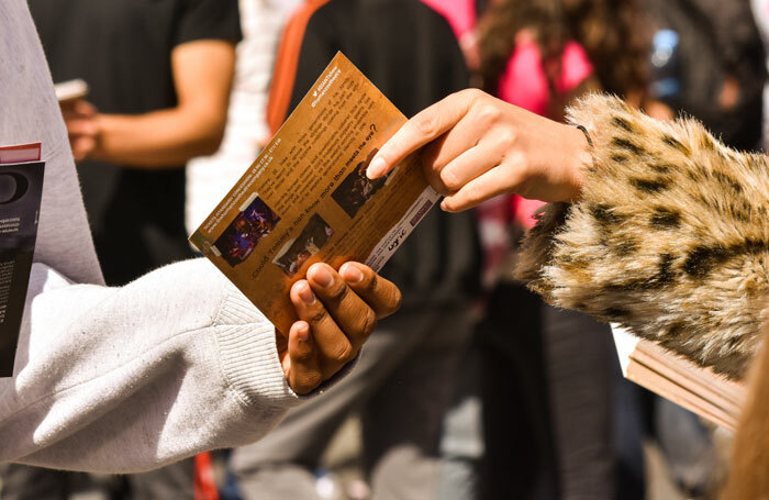 Flyering is an essential marketing role at the Edinburgh Fringe. Photo: Shutterstock
