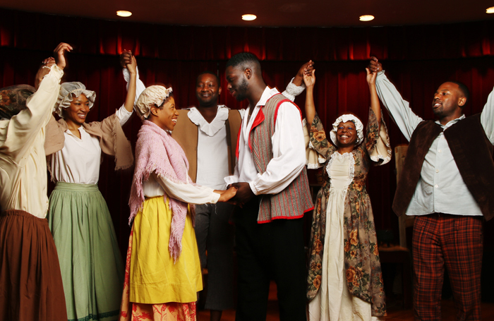 The cast of Henry Box Brown the Musical