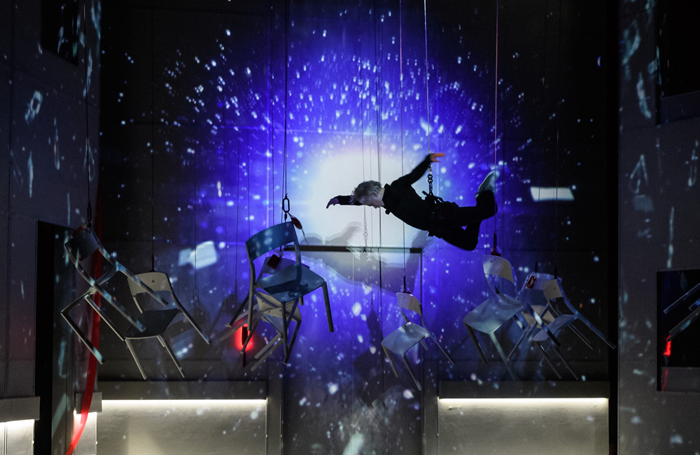 Chairs Flying – Out of this World (Macroberts Arts Centre, Stirling, 2017) – designed by Becky Minto. One of the UK's entries to the Prague Quadrennial