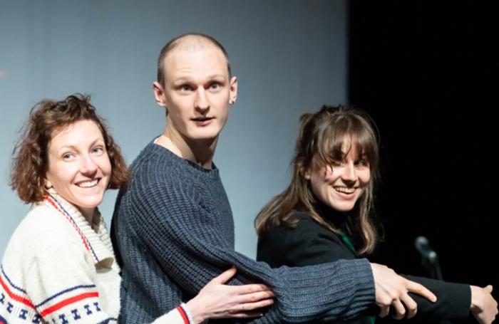 Liz Richardson, Sam Ward and Josie Dale-Jones in Swim. Photo: Shaun Conway